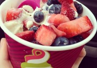 Menchie's frozen yogurt franchises always have plenty of fresh fruits on hand for toppings.