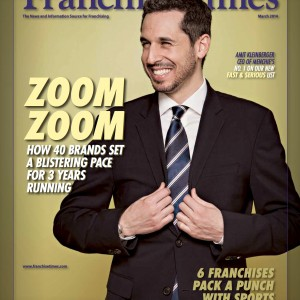 "Amit Kleinberger, CEO of the Menchie's frozen yogurt franchise, made the cover of the March 2014 ""Franchise Times."""