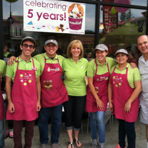 Menchie's frozen yogurt franchise offers a simple business model with a strong cash flow and low inventory.